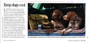 AnimAlarm article in Country Life May 15th 2013